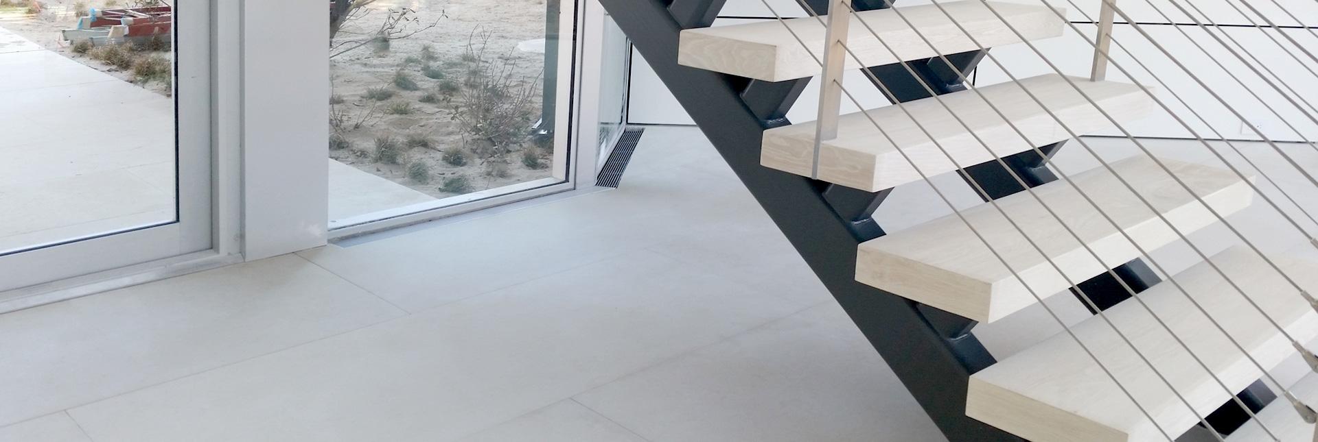 Stone Surgeon - Granite Sealed White Stairs and Floor