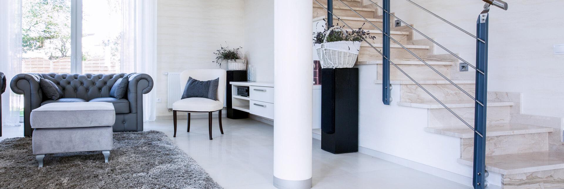 Stone Surgeon - White Living Room Clean Granite