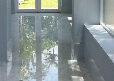 Stone Surgeon - White Polished Marble Hallway